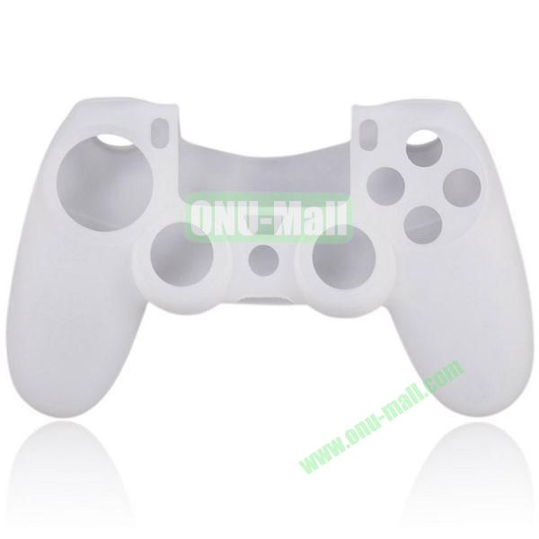 Flexible Silicone Case for Sony PS4 Game Controller (White)