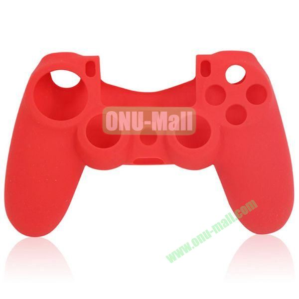 Flexible Silicone Case for Sony PS4 Game Controller (Red)