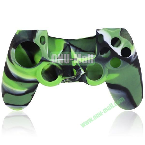 Camouflage Flexible Silicone Case for Sony PS4 Game Controller (Green)