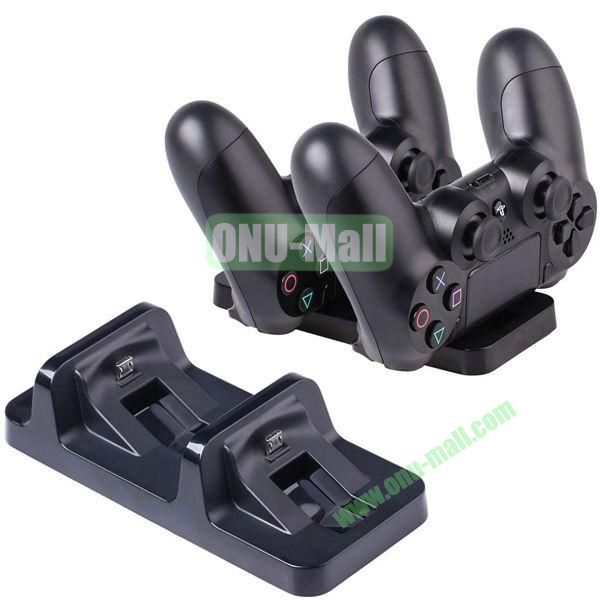 Double Charge Station for PS4 Gaming Controller (Black)