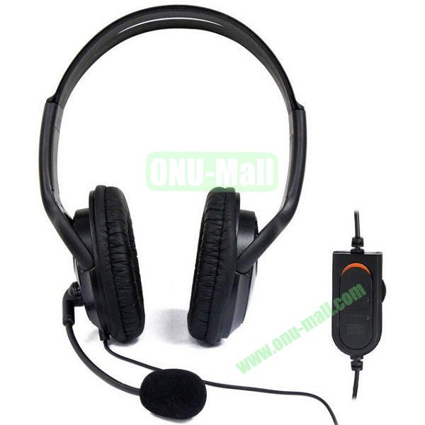 Wired Headset with Mic for PS4 (Black)