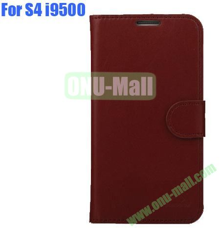 High Quality Genuine Leather Case with Card Slots And Magnetic Flip Stand Cover For Samsung Galaxy S4 SIV I9500(Light Brown)