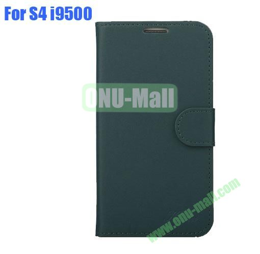 High Quality Genuine Leather Case with Card Slots And Magnetic Flip Stand Cover For Samsung Galaxy S4 SIV I9500(Green)