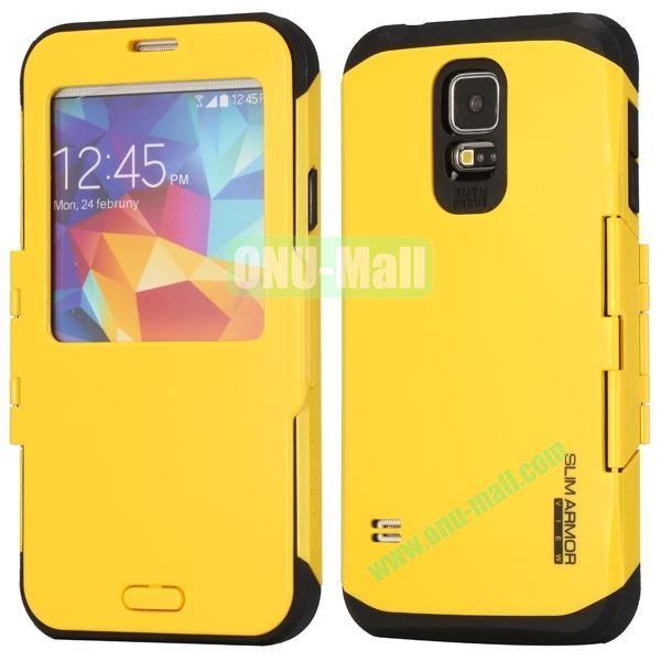 Slim Armor Hard Case for Samsung Galaxy S5 i9600G900 (Yellow)