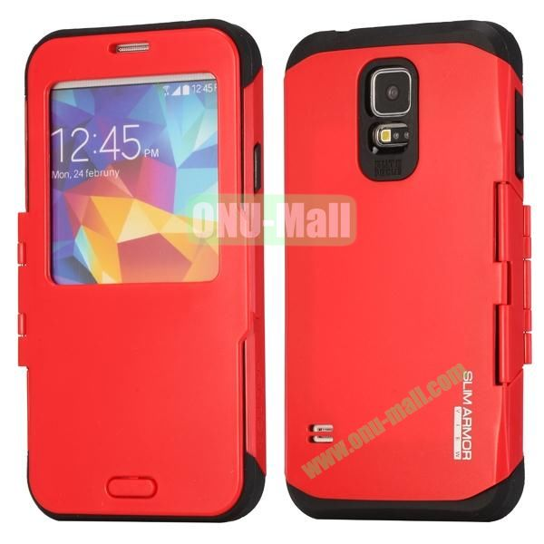 Slim Armor Hard Case for Samsung Galaxy S5 i9600G900 (Red)