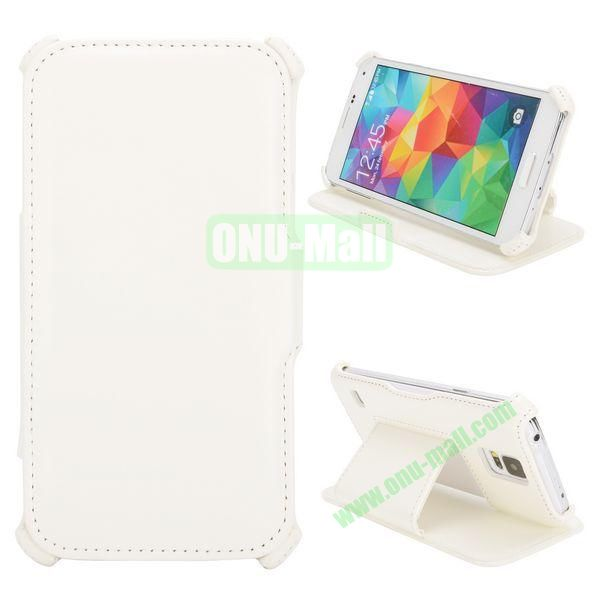 Flip Leather Case for Samsung Galaxy S5I9600 (White)