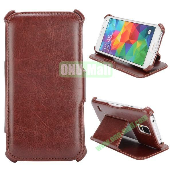 Flip Leather Case for Samsung Galaxy S5I9600 (Brown)