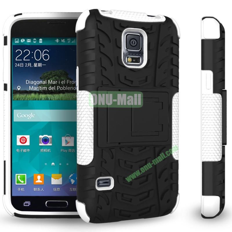 Mix Color Two in One Pattern TPU and PC Protective Case for Samsung Galaxy S5 Mini (Black and White)