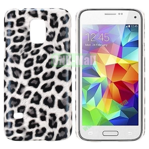 PC Hard Case for Samsung Galaxy S5 Mini SM-G800 (White Leopard Pattern)