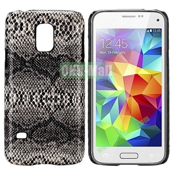 PC Hard Case for Samsung Galaxy S5 Mini SM-G800 (Grey Snake Skin)