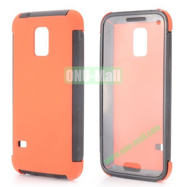 Two in One Pattern Detachable TPU and PC Oil Coated Back Case for Samsung Galaxy S5 Mini (Orange)