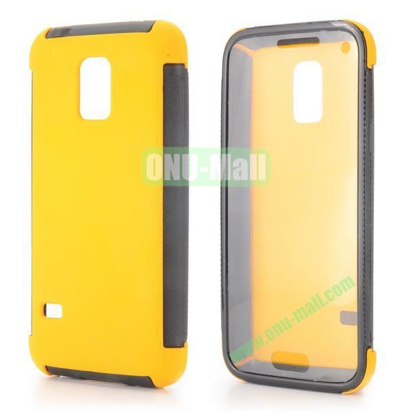 Two in One Pattern Detachable TPU and PC Oil Coated Back Case for Samsung Galaxy S5 Mini (Yellow)
