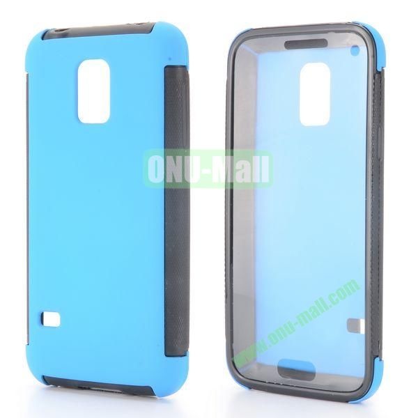 Two in One Pattern Detachable TPU and PC Oil Coated Back Case for Samsung Galaxy S5 Mini (Blue)