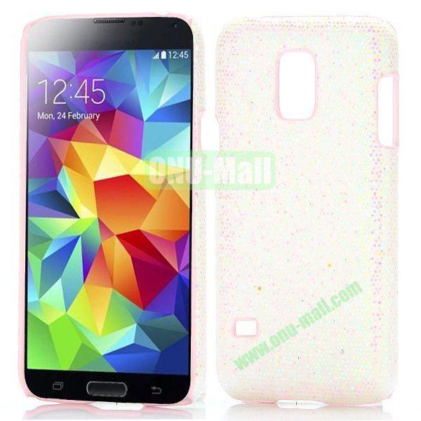 Glitter Powder Hard Case for Samsung Galaxy S5 Mini G800 (White)