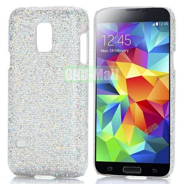 Glitter Powder Hard Case for Samsung Galaxy S5 Mini G800 (Silvery)