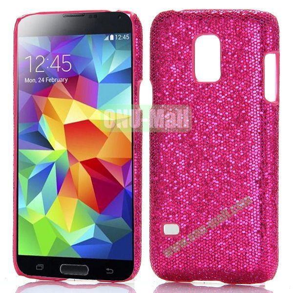 Glitter Powder Hard Case for Samsung Galaxy S5 Mini G800 (Rose)