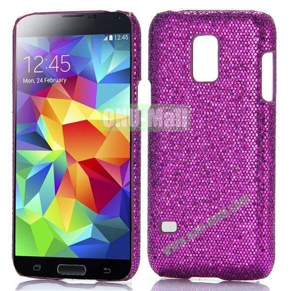 Glitter Powder Hard Case for Samsung Galaxy S5 Mini G800 (Purple)