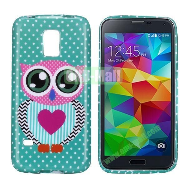 Owl Pattern TPU Case Cover for Samsung Galaxy S5 Mini G870a G800 S5 Dx G870W