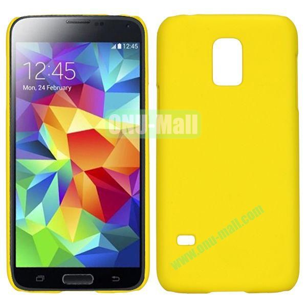 Ultrathin Oil Coated Hard Case For Samsung Galaxy S5 Mini G800 G870a (Yellow)