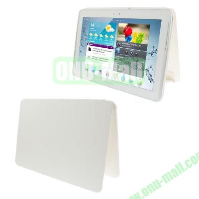 Official Design Cloth Texture Plastic + Leather Case for Samsung Galaxy Tab 2 (10.1)  P5100 (White)
