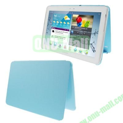 Official Design Cloth Texture Plastic + Leather Case for Samsung Galaxy Tab 2 (10.1)  P5100 (Blue)