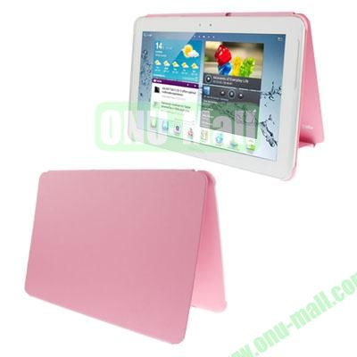 Official Design Cloth Texture Plastic + Leather Case for Samsung Galaxy Tab 2 (10.1)  P5100 (Pink)