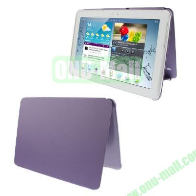 Official Design Cloth Texture Plastic + Leather Case for Samsung Galaxy Tab 2 (10.1)  P5100 (Purple)