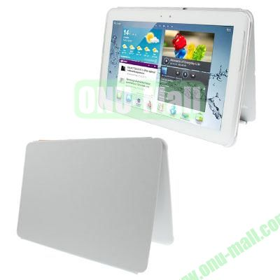 Official Design Cloth Texture Plastic + Leather Case for Samsung Galaxy Tab 2 (10.1)  P5100 (Grey)