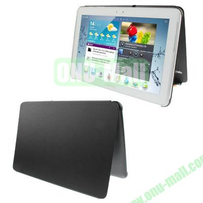 Official Design Cloth Texture Plastic + Leather Case for Samsung Galaxy Tab 2 (10.1)  P5100 (Black)