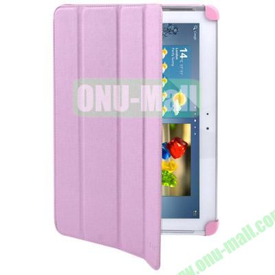 Belk Series 4-Fold Leather Case for Samsung Galaxy Tab 2 P5100 with Wake-up Function (Pink)