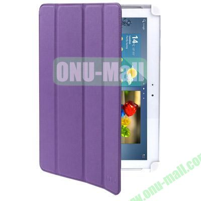 Belk Series 4-Fold Leather Case for Samsung Galaxy Tab 2 P5100 with Wake-up Function (Purple)