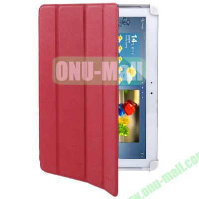 Belk Series 4-Fold Leather Case for Samsung Galaxy Tab 2 P5100 with Wake-up Function (Red)
