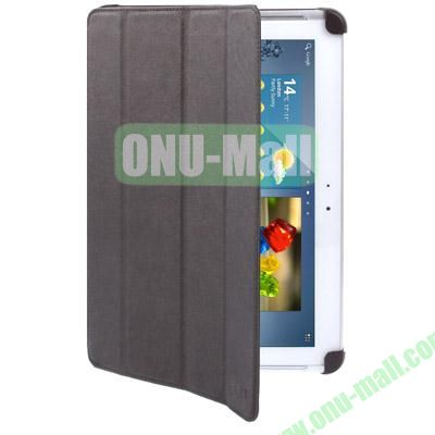 Belk Series 4-Fold Leather Case for Samsung Galaxy Tab 2 P5100 with Wake-up Function (Coffee)