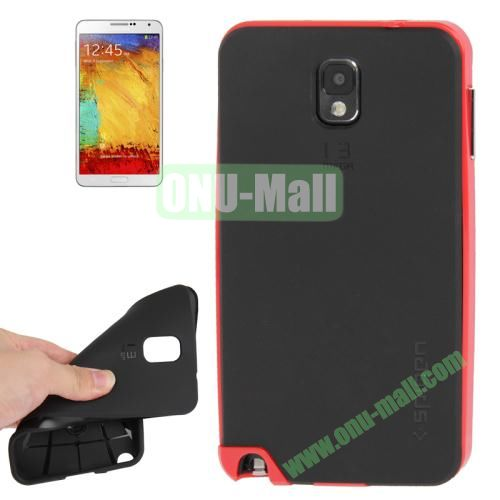 TPU Back Cover + Polycarbonate Frame Case for Samsung Galaxy Note 3 N9000 (Red)