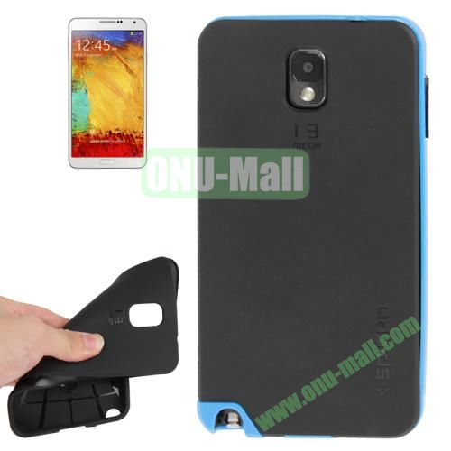 TPU Back Cover + Polycarbonate Frame Case for Samsung Galaxy Note 3 N9000 (Blue)