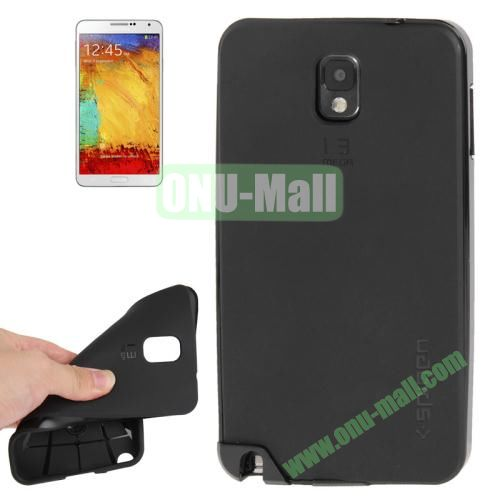 TPU Back Cover + Polycarbonate Frame Case for Samsung Galaxy Note 3 N9000 (Black)