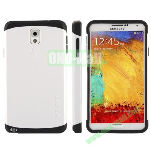 Slim Armor Plastic + TPU Hybrid Case for Samsung Galaxy Note 3  N9000 (White)