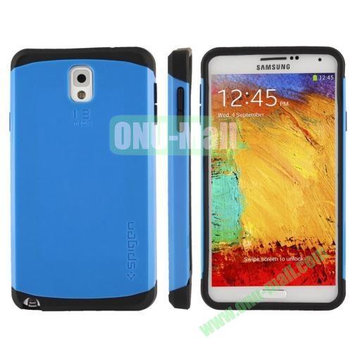 Slim Armor Plastic + TPU Hybrid Case for Samsung Galaxy Note 3  N9000 (Blue)