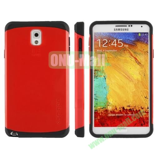 Slim Armor Plastic + TPU Hybrid Case for Samsung Galaxy Note 3  N9000 (Red)