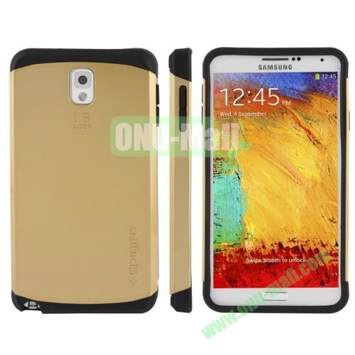 Slim Armor Plastic + TPU Hybrid Case for Samsung Galaxy Note 3  N9000 (Golden)