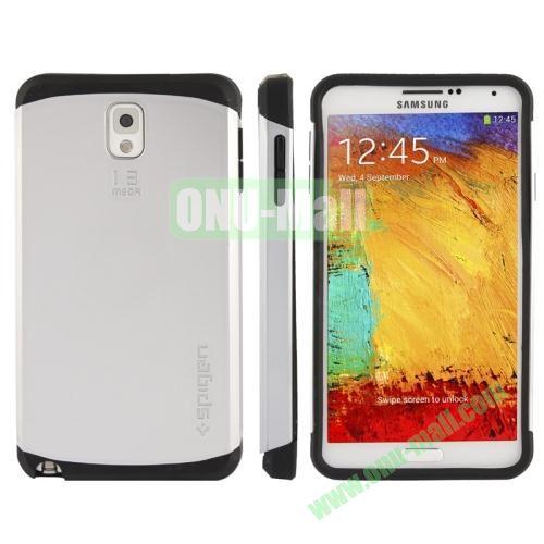 Slim Armor Plastic + TPU Hybrid Case for Samsung Galaxy Note 3  N9000 (Grey)