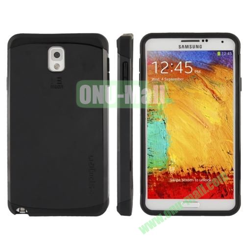 Slim Armor Plastic + TPU Hybrid Case for Samsung Galaxy Note 3  N9000 (Black)