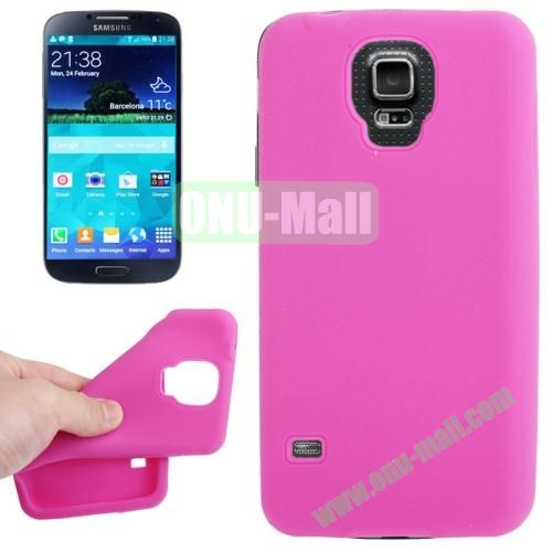 Anti-scratch Silicone Case for Samsung Galaxy S5  SV  i9500x  (Pink)