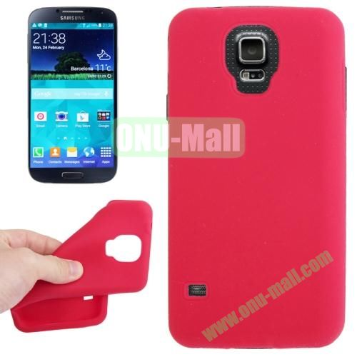 Anti-scratch Silicone Case for Samsung Galaxy S5  SV  i9500x  (Red)