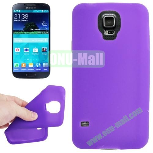 Anti-scratch Silicone Case for Samsung Galaxy S5  SV  i9500x  (Purple)