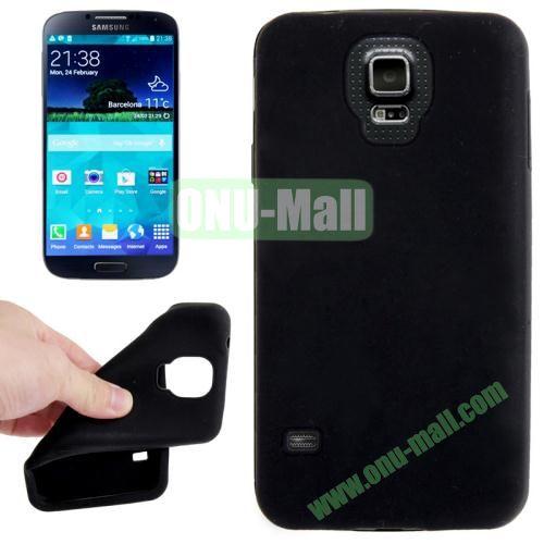 Anti-scratch Silicone Case for Samsung Galaxy S5  SV  i9500x  (Black)