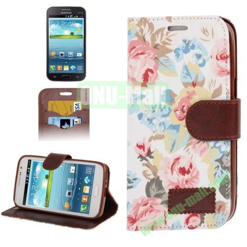 Denim Texture Leather Case for Samsung Galaxy Grand 2  G7106 with Credit Card Slots  (White)