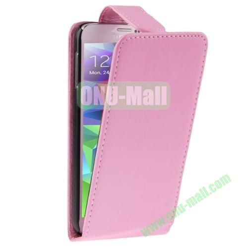 Vertical Flip Leather Cover for Samsung Galaxy S5  i9600 (Pink)