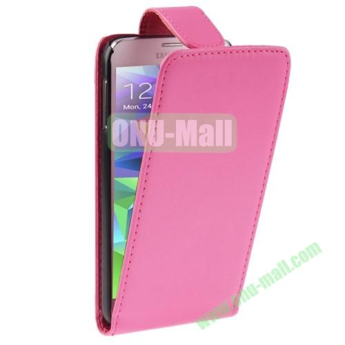 Vertical Flip Leather Cover for Samsung Galaxy S5  i9600 (Magenta)
