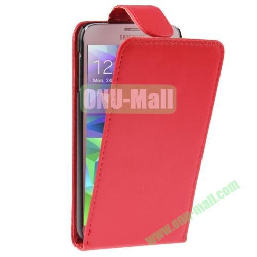 Vertical Flip Leather Cover for Samsung Galaxy S5  i9600 (Red)